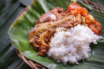 Nasi Gudeg Telur Paha Bawah Ayam